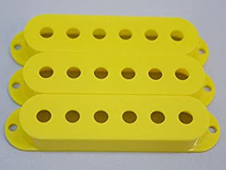 MIJ Single Pickup Covers Set for Stratocaster Yellow fa-stpuc3-ylw
