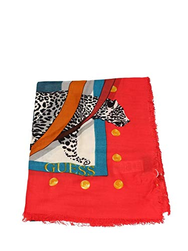 Guess Foulard quadrato stampa animalier AW8380VIS03 red