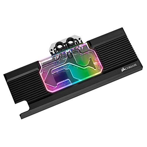 Corsair Hydro X Series, XG7 RGB 20-SERIES Bloque de Refrigeración Líquida para GPU para NVIDIA GeForce RTX 2080 Ti Founders Edition (Precisión Estructura, Personalizable Iluminación RGB) Negro