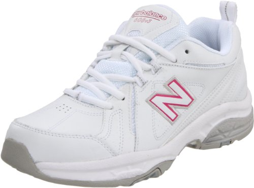 New Balance Women's WX608V3 Cross-Training Shoe,White/Pink,7.5 B US