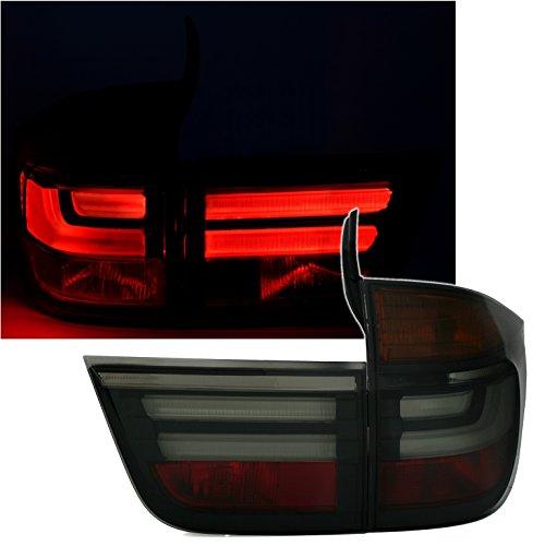 Depo Jeu de feux arrière LED en verre transparent Noir Facelift LCI