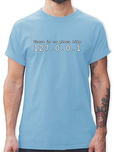 Programmierer - There is no Place Like 127.0.0.1 - XXL - Hellblau - t Shirt-no Place - L190 - Tshirt Herren und Männer T-Shirts