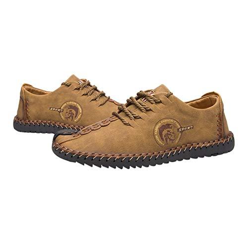 DAILY Dailyinshop 2017 Zapatos de Cuero cosidos a Mano de Moda Zapatos Casuales cómodos para Hombres Pisos Mocasines Suaves Mocasines Stiching Zapatos Masculinos