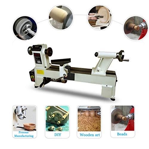 ANZQTAIYANG Drechseln Unbegrenzte Getriebe Miniatur-Drehbank Haushalts Stufenlos Rotary Holz Maschine für High-Speed-Schleifen und Polieren von fertigen Arbeit