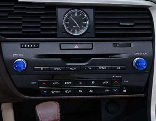 CSS-Hamster New Protective Radio Button Stickers Compatible with Lexus RX 2016-2020 RX200t RX350 RX450h Blue