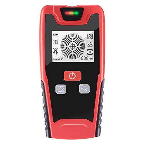 VICO Upgraded 5 in 1 Multi Function Electronic Stud Finder/ Wall Detector/ Wall Scanner Detector Center Finding with LCD Display Sound Warning for Wood/Live AC Wire/Metal/Studs Detection