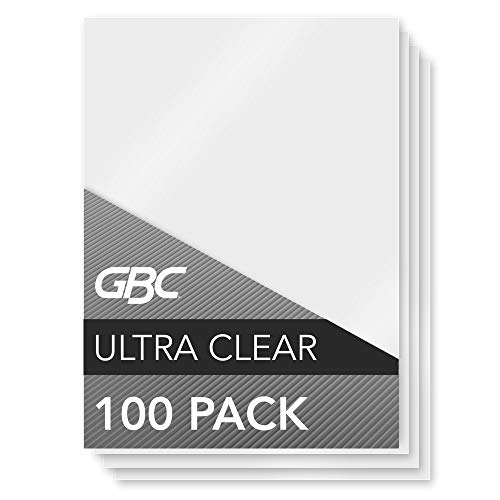 GBC Laminating Sheets, Thermal Laminating Pouches Menu Size, 5mil, HeatSeal UltraClear, 100 Pack (3200418)