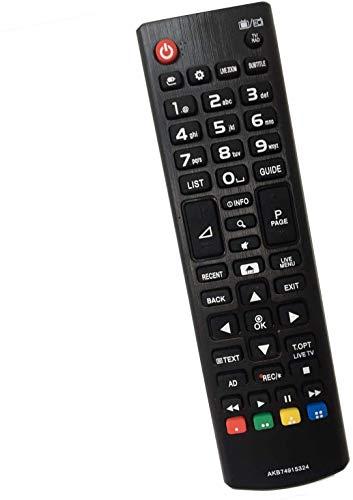 Nuovo telecomando sostitutivo per telecomando TV LG AKB74915324 Adatto per LG Smart TV LED LCD 32LH590U 32LH604V 43LH630V 43UH664V 49LH590V 49LH604V Nessuna configurazione richiesta Telecomando TV