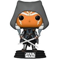 Funko Pop! Star Wars: The Mandalorian - Hooded Ahsoka with Duel Sabers (Amazon Exclusive)