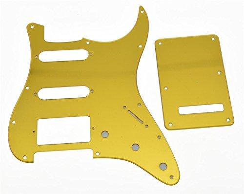 kaish Oro Espejo St Strat HSS golpeador de guitarra y placa posterior trémolo Para Tornillos para Fender