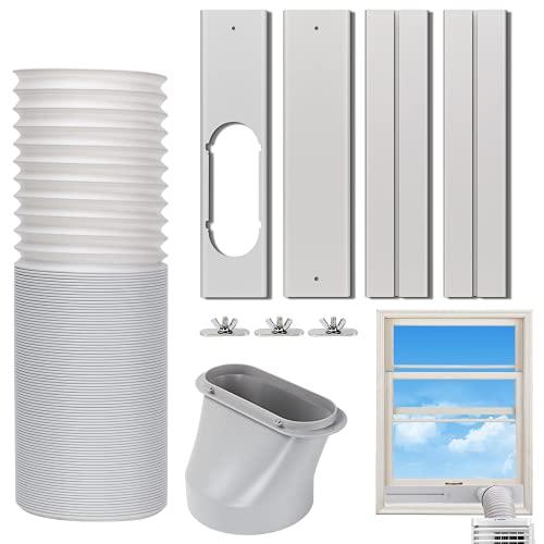 Kxuhivc Kit de ventilación de aire acondicionado portátil para ventanas con sello de ventana ajustable con diámetro de 5.9 pulgadas,...