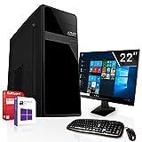 Komplett PC-Paket Set • AMD FX-9830 4X3.0GHz • 8GB DDR4 • 256GB M.2 SSD •Radeon DirectX 12 HDMI • WLAN • USB 3.1 • Win10 • 22 Zoll LED TFT Monitor • Computer