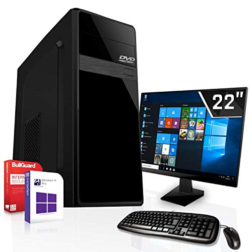 Office Komplett PC Set|AMD A8-9600 4x3.4GHz|Maken Board|22 Zoll Monitor|Radeon HD R7|2000GB HDD|CD/DVD Laufwerk|Windows 10 Pro|WLAN|3 Jahre Garantie