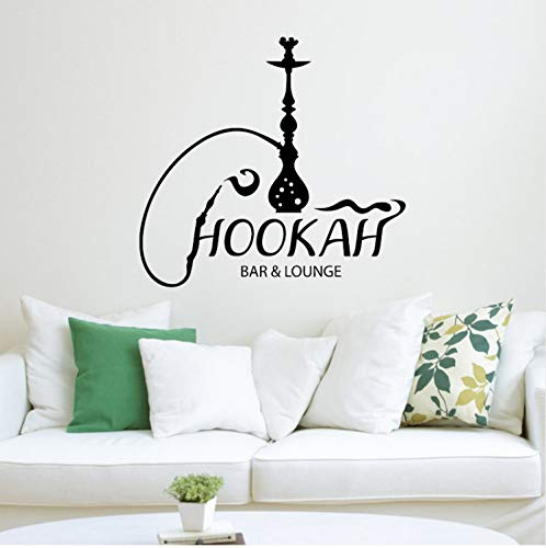 Fashion Fishing House Vinyl Wall Decal Hookah Bar Lounge Shisha Arabic Smoking Cafe Stickers