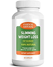 Slimming Weight Loss 100% Natural Aid and Diet Pill for Powerful Fat Burning and Appetite Suppression. Excellent for Keto Diet to Get Back into Ketosis Quickly.Carb and Fat Blocker veg 60 Count