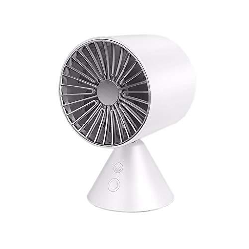 Ventilatore USB Mini Muto Dormitorio for Studenti Scuotere la Testa Ventilatore da scrivania Ventilatore Piccolo Ventilatore da Tavolo Portatile Circolatore Portatile Athermalisation (Color : White)