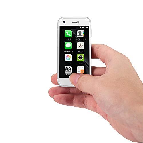 Sudroid Super Mini 2.5 Inches Android Smart Phone Quad Core 1G+8G 5.0MP Dual SIM High Definition Mini Phones Unlocked (White)