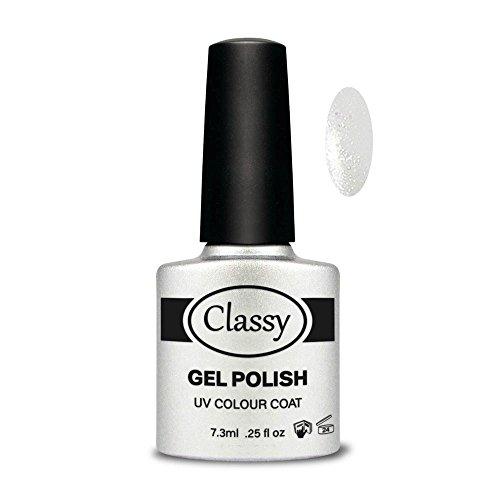 Classy UV Polish Gel kleur mantel, zilver Glisten