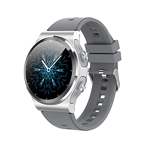LSQ TWS Wireless Bluetooth Auricolare Smart Watch per Le Donne da 1,28 Pollici Bluetooth Bluetooth Weather Frequenza del Cuore Tracker GT69 per iOS Android,D