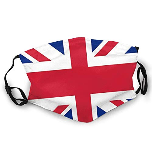 KINGAM Máscara facial de moda Union Jack 1960s Mini falda mejor de la bandera británica Throw almohada Sunproof moda bandana headwear para la pesca