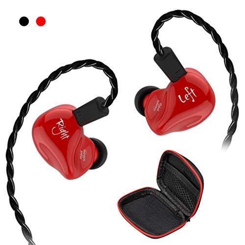 KZ ZS4-C DD+BA Auriculares de tecnología híbrida Hi-fi estéreo con graves auriculares deportivos cable desmontable cancelación de ruido auriculares para juegos con caja de almacenamiento No Mic nrosso