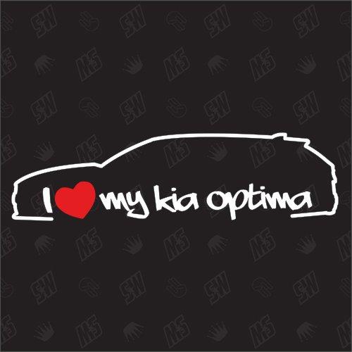 test speedwerk-motorwear Ich liebe meinen Optima Sportwagen – Kia Sticker, 15 Jahre alt, Kombi, JF Deutschland