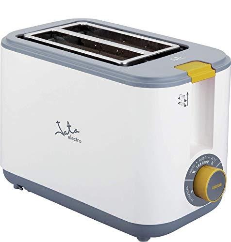 Jata Tostador TT548 - Dos ranuras extra anchas, Tuesta, recalienta y descongela, Centrado automático del pan, Cuerpo toque frío, Recogemigas