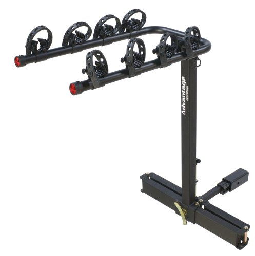Heininger Automotive 2110 Advantage SportsRack glideAWAY2 Deluxe 4 Bike Rack Carrier,Black