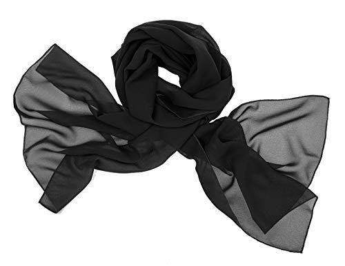 bridesmay Chiffon Stola Schal Scarves für Kleider in Verschiedenen Farben Black M