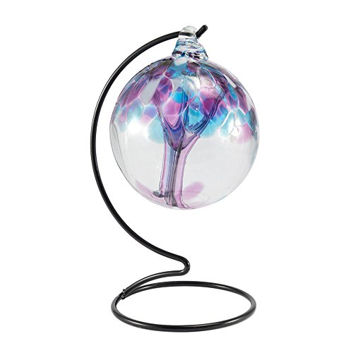 Milford Violet Hanging amitié fait à la main de globe de verre lumière nuit Titulaire Cadeau