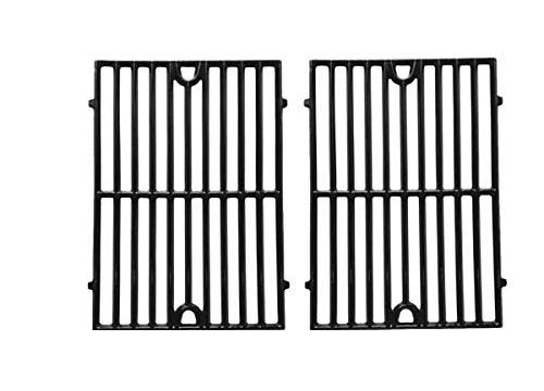 Gloss Cast Iron Replacement Cooking Grid for Kenmore, Hamilton Beach 84131, 84131C, Vermont Castings CF9030, Grand Cafe: GC1000 and Ellipse 2000LP Gas Grill Models, Set of 2