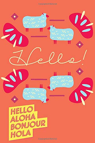 Hello: Notebook cover, daily journal 6x9 inches with 117 Pages