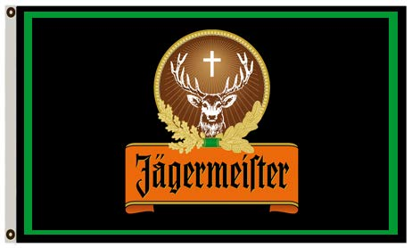 Annfly Jagermeister-Flagge, 91 x 152 cm