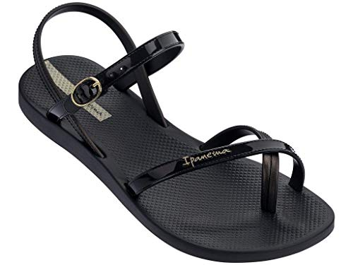 Ipanema Fashion Sandal VII Damensandalen, Damenzehentrenner 82682 (40 EU, schwarz)