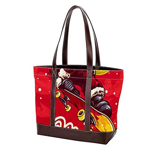 NaiiaN für Mutter Frauen Mädchen Damen Student Umhängetaschen Einkaufstasche Geldbörse Shopping Handtaschen Frohe Weihnachten Skateboard Leichtgewicht Gurt