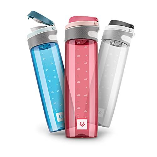 Alphatrail Botella Agua Tritan Jay 750ml Rojo 100% Prueba de Fugas I sin BPA & Ecológicamente I Seguro Lavavajillas I para una hidratación óptima en la Vida Diaria