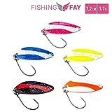 FISHINGFAY Trout Spoon Set Swing, Gewicht: 3,7 Gramm, Länge: 3,2 cm, Forellenköder,...