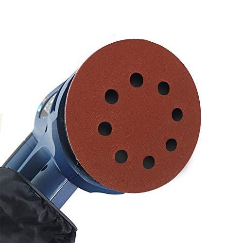 LINMAN 125PCS 125mm Papso de Lija 40-240 Grit Forma Redonda Discos de Lijado Hoja de amortiguamiento Papel de Lija de 8 Orificios Sandador de Pulido Herramientas abrasivas