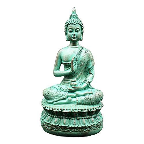 HBloom 6.7' Thai Shakyamuni Sitting Buddha Statue, Gautama Buddha Decoration for Meditation Altar (Verdigris1)