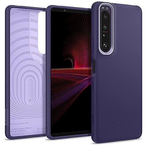 Hülleology Nano Pop Hülle Kompatibel mit Sony Xperia 1 III - Grape Purple
