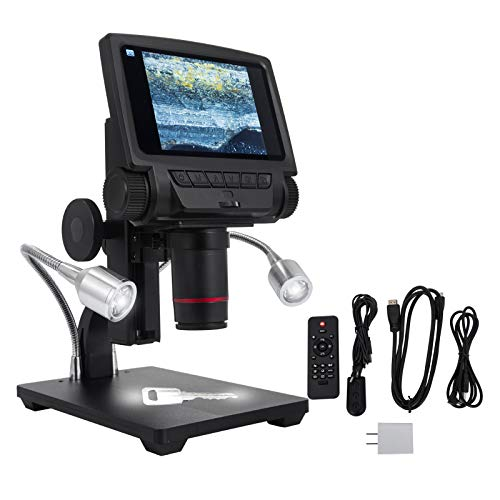 BananaB Screen Digital Microscope 5 Zoll USB Mikroskop 1080P HDMI/TV Video Aufnahme Lupe IR-Fernbedienung mit 260-fache Vergrößerung für PCB Repair Soldering