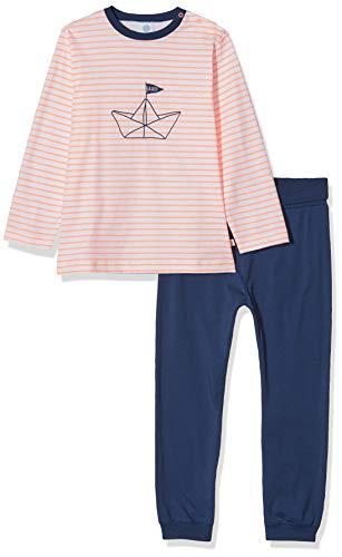 Sanetta Baby-Jungen Pyjama lang Zweiteiliger Schlafanzug, orange 2459, 98 (Herstellergröße:098)