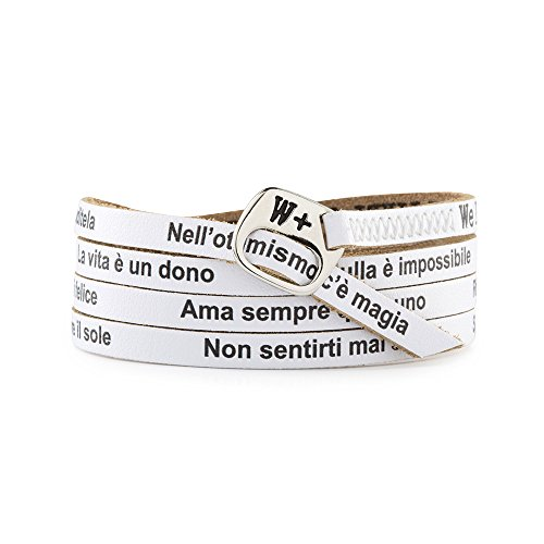 We Positive SPECIAL BLACK FRIDAY 50% OFF ARMBAND ITALIANS CRAZY COL. BIANCO IT029
