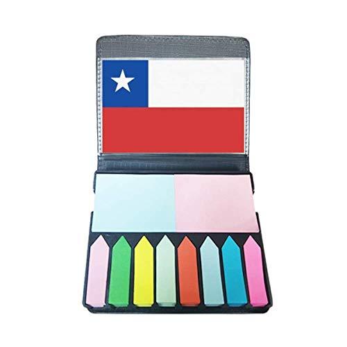 Chili nationale vlag Zuid-Amerika land zelfklevende notitie kleur pagina markeerdoos