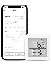SwitchBot 温湿度計 デジタル スマート家電 高精度 スイス製センサー スマホで温度湿度管理 熱中症対策 アラーム付き グラフ記録 アレクサ、Google home、HomePod、IFTTT に対応(ハブ必要)