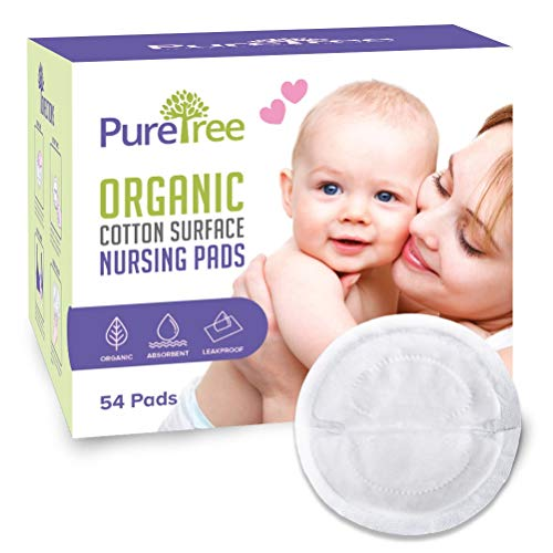 Check Out This PureTree Organic Cotton Surface Disposable Nursing Pads for Breastfeeding (4 Boxes - ...