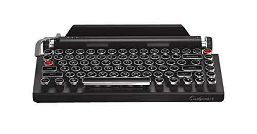 Qwerkywriter S Typewriter Inspired Retro Mechanical Wired & Wireless Keyboard with Tablet Stand