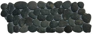 Charcoal Black Pebble Tile Border 1 Piece 4