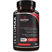 TESTOMAX Testosterone Booster for Men - 13 Powerful Active Ingredients & Vitamins Including Zinc, Maca Root Extract, Fenugreek, Ginseng - Made in the UK by Nutravita