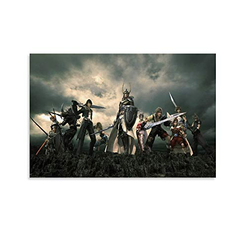 WERTQ Dissidia Final Fantasy PSP Póster Cuadro decorativo Lienzo Arte Pared Sala de Estar Poster Dormitorio Pinturas 30x45 cm